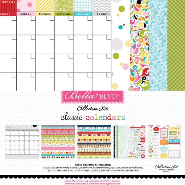"Bella Blvd Collection Kit 12""X12""-Classic Calendars"