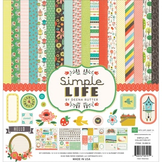 "Echo Park Collection Kit 12""X12""-Simple Life"