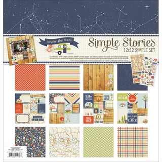 "Simple Stories Simple Sets Collection Kit 12""X12""-Under The Stars"