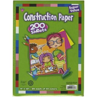 """Construction Paper Pad 9""""X12"""" 200/Pkg-Assorted Colors"""