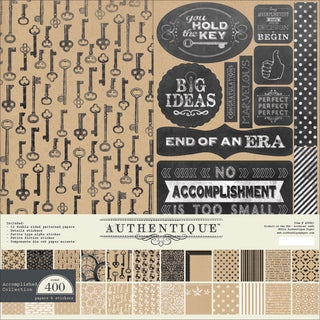 "Authentique Collection Kit 12""X12""-Accomplished"
