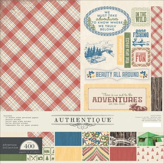 """Authentique Collection Kit 12""""X12""""-Adventure"""