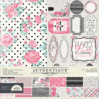 "Authentique Collection Kit 12""X12""-Classique Pretty"