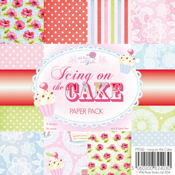 "Wild Rose Studio Ltd. Paper Pack 6""X6"" 36/Pkg-Icing On The Cake"