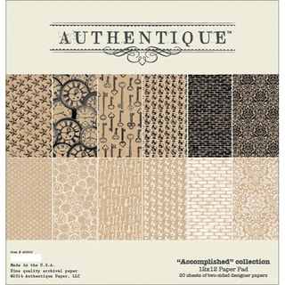 "Authentique Paper Pad 12""X12"" 20/Pkg-Accomplished"