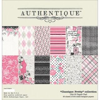 """Authentique Paper Pad 12""""X12"""" 20/Pkg-Classique Pretty"""