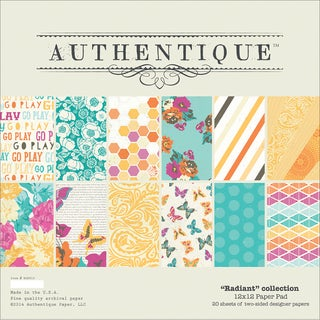 "Authentique Paper Pad 12""X12"" 20/Pkg-Radiant"