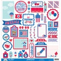 Patriotic Parade This & That Cardstock Stickers 12X12in
