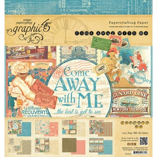 "Graphic 45 Paper Pad 8""X8"" 24/Pkg-Come Away With Me"