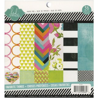"Heidi Swapp Paper Pad 6""X6"" 36/Pkg-Favorite Things"