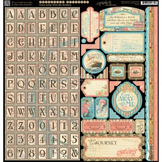 "Come Away With Me Cardstock Stickers 12""X12in"