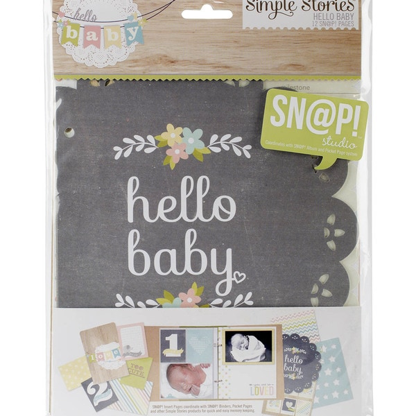 "Sn@p! Double-Sided Journal Pages 6""X8""-Hello Baby"