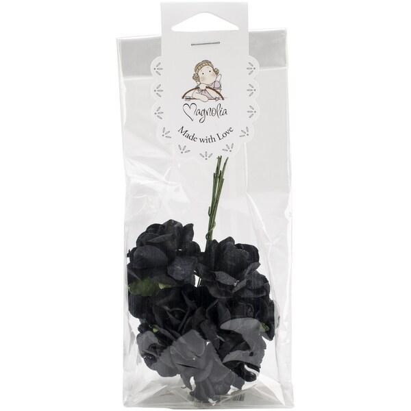 Vintage Roses 10/Pkg-Black