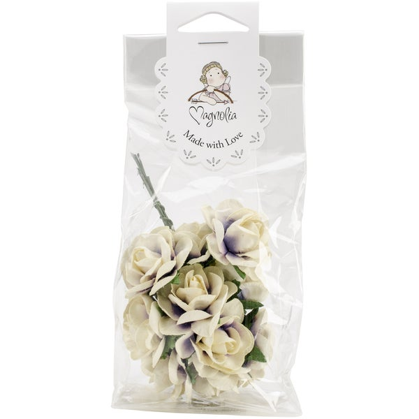 Vintage Roses 10/Pkg-Cream & Lilac