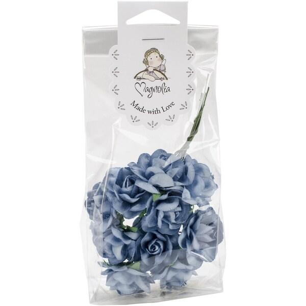 Vintage Roses 10/Pkg-Dark Blue