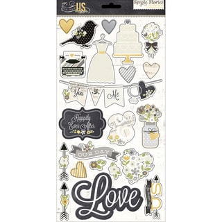 The Story Of Us Chipboard Stickers 6X12in