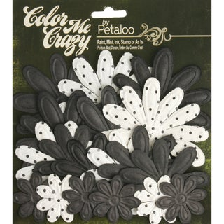 """Color Me Crazy Flower Layers 1.5"""" To 3.25"""" 18/Pkg-Chalkboard Embossed Daisies"""