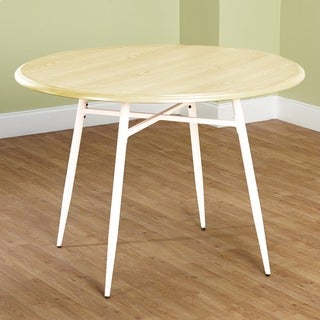 Simple Living Milo Mixed Media Round Dining Table
