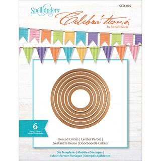 Spellbinders Celebra'tions Dies 6/Pkg-Pierced Circles