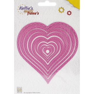 Nellie's Choice Multi Frame Dies-Wavy Heart, 9/Pkg