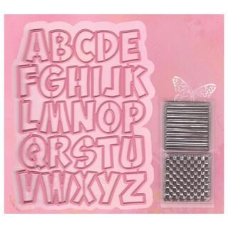 Marianne Design Collectables Dies W/Stamps-Alphabet