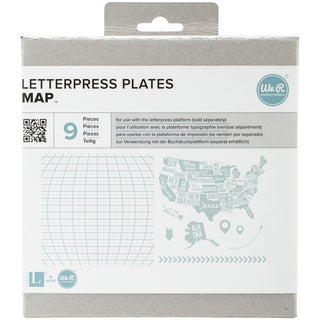 Lifestyle Letterpress Plates-Map