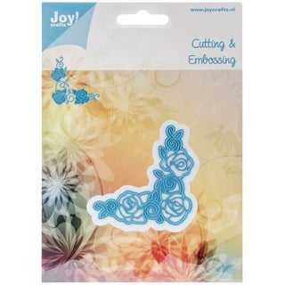 "Joy! Crafts Cut & Emboss Die-Rose Corner 2.5""X2.5"""