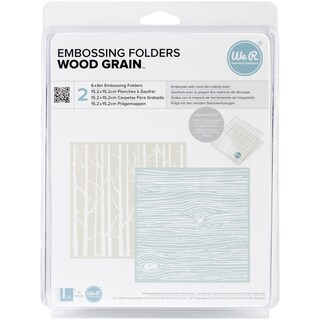 "Goosebumpz 6""X6"" Embossing Folder 2/Pkg-Woodgrain"