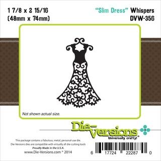 """Die-Versions Whispers Die-Slim Dress 1.875""""X2.937"""""""