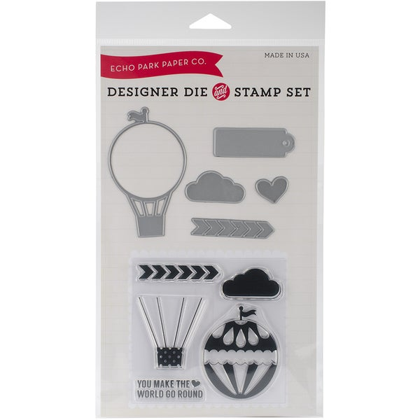 Echo Park Die & Stamp Combo Set-Hot Air Balloon