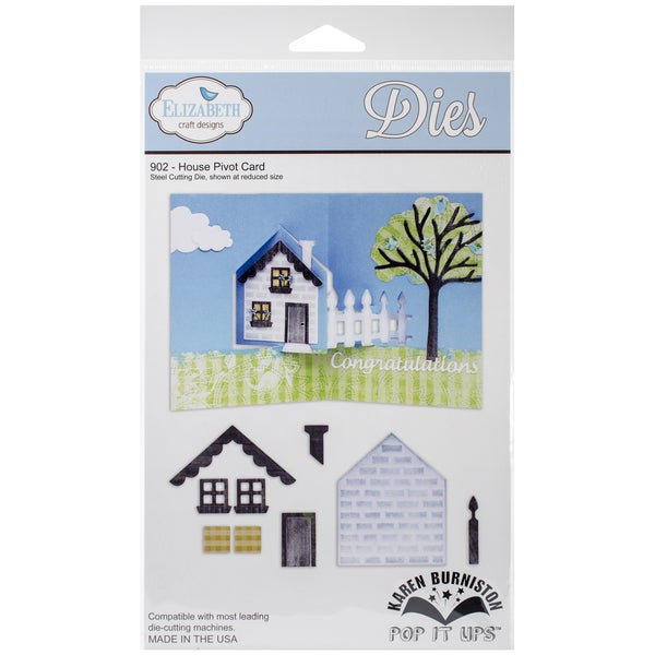 Elizabeth Craft Metal Die-House Pivot Card