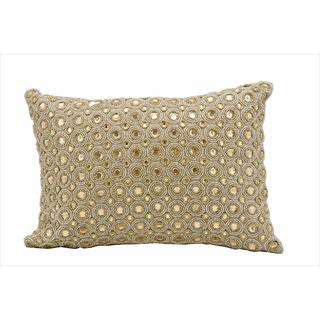 "Nourison Kathy Ireland Beige Pillow (10"" x 14"")"