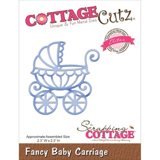 "CottageCutz Elites Die 2.3""X2.3""-Baby Carriage"