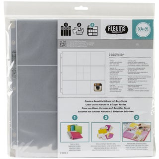 "Ring Photo Sleeve Protectors 12""X12"" 10/Pkg-(8) 4""X4"" & (4) 2""X2"" Pockets"