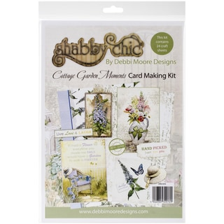 Debbi Moore Shabby Chic Card Kit-Cottage Garden