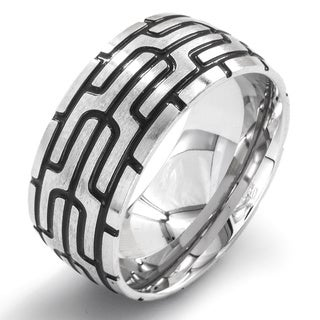 Men's Stainless Steel Graphic Geometric Band Ring