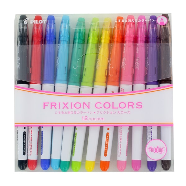 Pilot FriXion Colors Erasable Markers (Pack of 12)