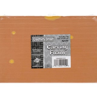 "Carving Foam Block 9""X6""X.5"" 2/Pkg-Yellow"
