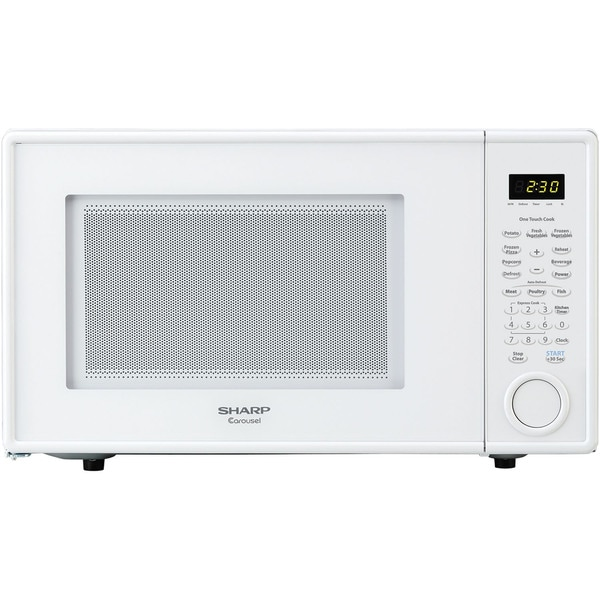 Sharp R309 Series Mid-Size 1.1 Cu. Ft. 1000W Microwave Oven in White