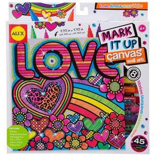 Mark It Up Canvas Wall Art-Love