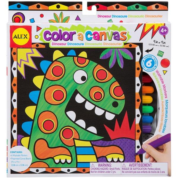 Color A Canvas Kit-Dinosaur