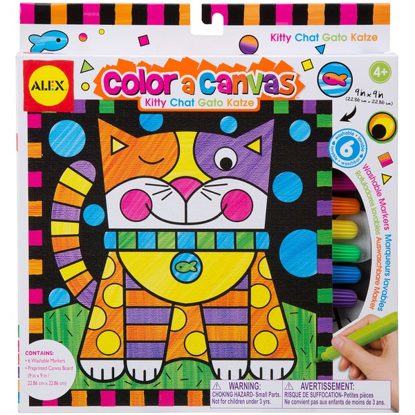 Color A Canvas Kit-Kitty
