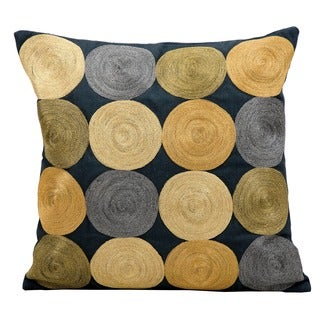 Nourison Kathy Ireland Multi-color Circles 18-inch Pillow