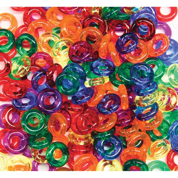 Stringing Ring Beads 6oz Bag-Assorted Colors