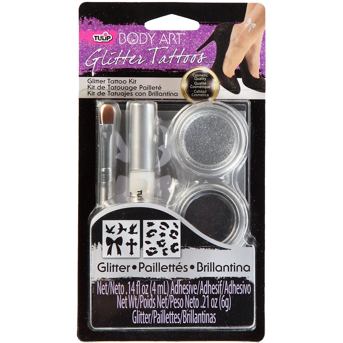 Overstock.com Tulip Body Art Glitter Tattoo Kit-Silver at Sears.com