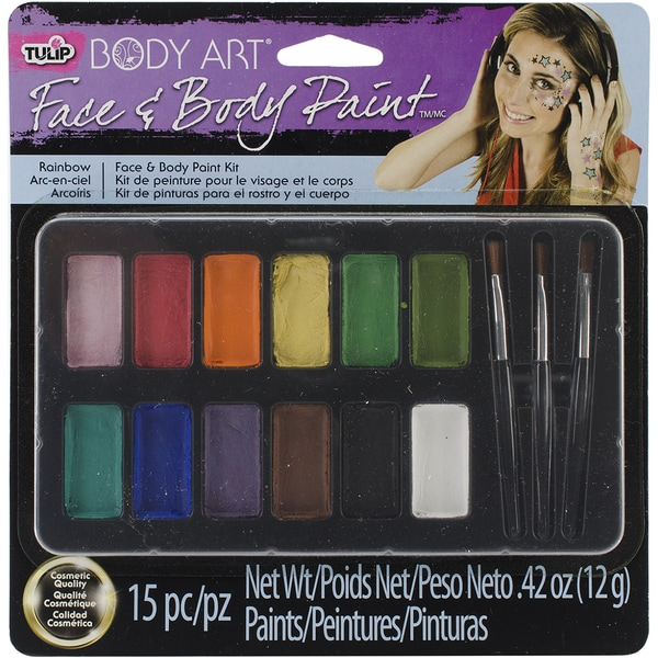 Tulip Body Art Paint Palette 15pc-Rainbow