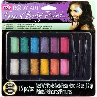 Tulip Body Art Paint Palette 15pc-Shimmer