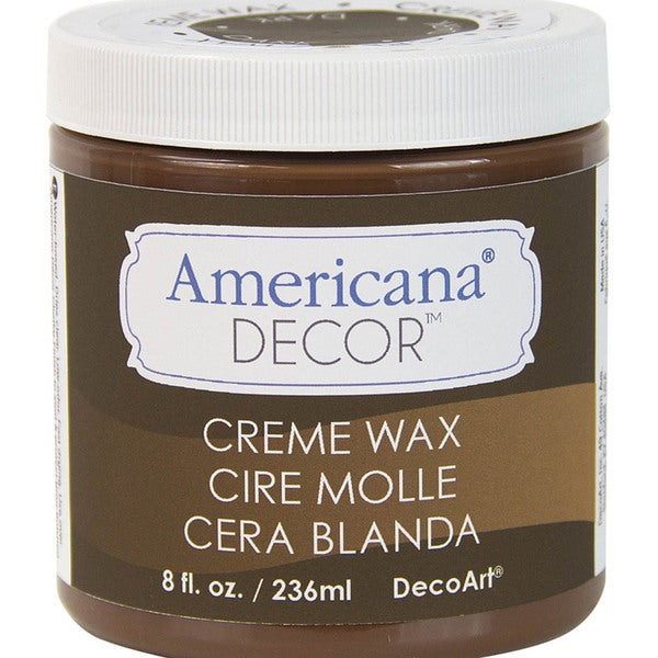 Americana Decor Creme Wax 8oz-Deep Brown