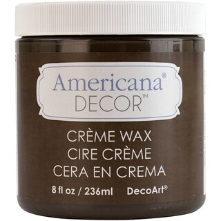 Americana Decor Creme Wax 4oz-Deep Brown
