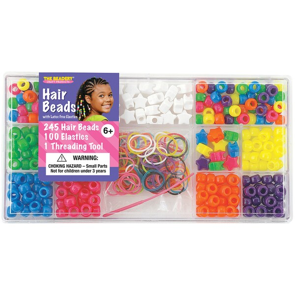 Large Hair Bead Kit-Neon